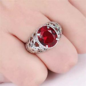 ❤️gorgeous Turkish  ruby gold filled ring 6